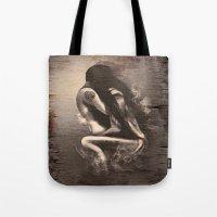 I Miss Us  (wood texture) Tote Bag