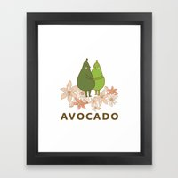 Avocado Love Framed Art Print