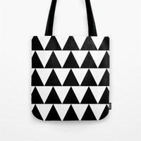 Black and White Triangle By PencilMeIn Tote Bag