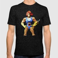 Polygon Heroes - Lion-O Mens Fitted Tee Tri-Black SMALL
