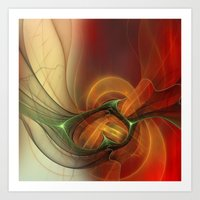 Sunset Abstract Art Print