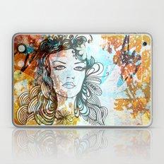 floral girl Laptop & iPad Skin