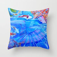 With Every Breath Throw Pillow