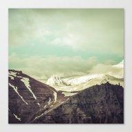 Cloudy Mountains IV Canvas Print
