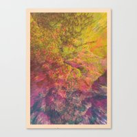 NEON MOUNTAINS / PATTERN SERIES 006 Canvas Print