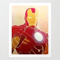 Iron Man Armor Art Print