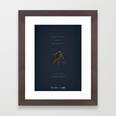 Breaking Bad - Felina Framed Art Print