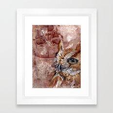 Human Owl Framed Art Print