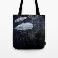 Tote Bag featuring Whales by Marianna Tankelevich