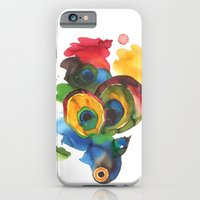 iPhone & iPod Case featuring Colorful fish 3 by Hande Unver