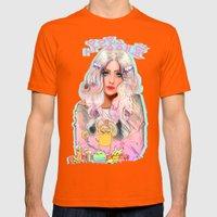 Lady Rainicorn, Jake, & … Mens Fitted Tee Orange SMALL