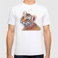 Tiger Cub Watercolor Pai… Mens Fitted Tee Ash Grey SMALL