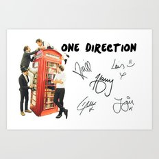 One Direction - Phone Booth Art Print