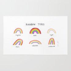 rainbow types Rug