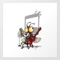 Le Rocker Fly Art Print