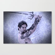Bam Bam the Snow Warrior Canvas Print