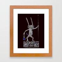 출전 CHAMPION - Olympic Dedicationg Framed Art Print