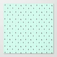 mint magic arrows Canvas Print