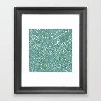 Ebb & Flow: Drops Framed Art Print