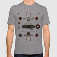 The Anatomy Of A Skatebo… Mens Fitted Tee Athletic Grey SMALL