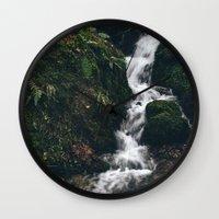 Small Hillside Waterfall… Wall Clock