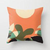 Jungle Sun #2 Throw Pillow