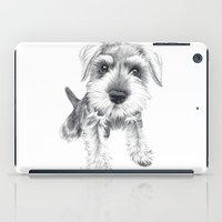 iPad Case featuring Schnozz the Schnauzer by Beth Thompson