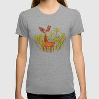 DEER Womens Fitted Tee Tri-Grey SMALL