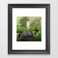 No Man An Island Framed Art Print