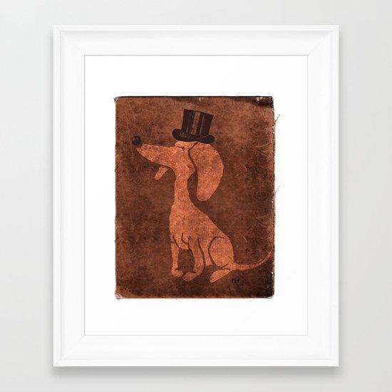 Arrogant Dog Framed Art Print