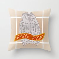 Falcon Carpe Diem Throw Pillow