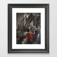 Out With The Old, In Wit… Framed Art Print