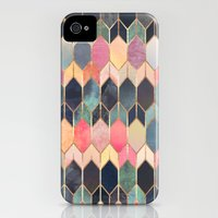 iPhone 4 Case featuring Stained Glass 3 by Elisabeth Fredriksson