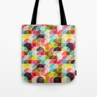 Tote Bag featuring Circle Colorful by Msimioni