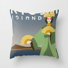 Kyoshi Island Travel Poster Throw Pillow