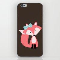 Pink Girl Fox  iPhone & iPod Skin