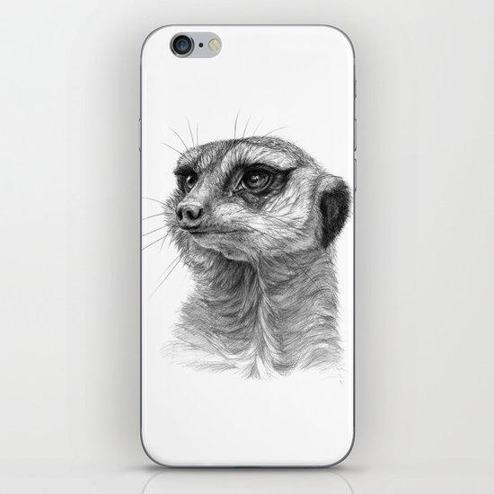 Meerkat-portrait G035 iPhone & iPod Skin