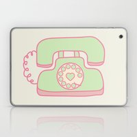 Retro Phone - Mint Laptop & iPad Skin