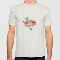 KISS Mens Fitted Tee Silver SMALL