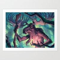 Moose Shamman Art Print