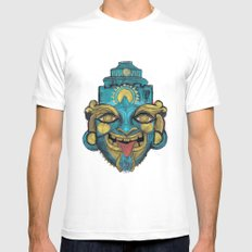 Morpho Mask SMALL Mens Fitted Tee White