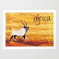 Africa! Art Print