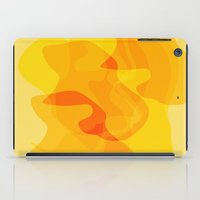 Orange Abstract Shapes iPad Case