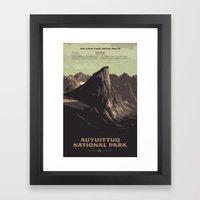 Auyuittuq National Park Framed Art Print
