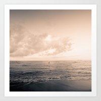 calm day ver.warmblack Art Print