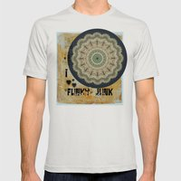 I Heart Funky Junk And F… Mens Fitted Tee Silver SMALL