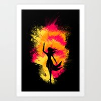 Typical Explosion Scene Art Print