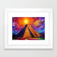 Mayan Pyramid   Framed Art Print