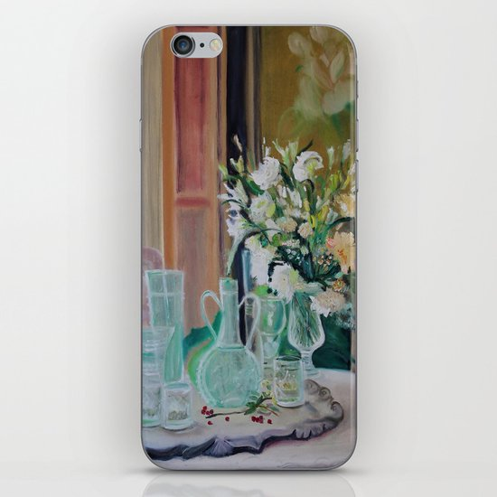 Bunch of white flowers iPhone & iPod Skin