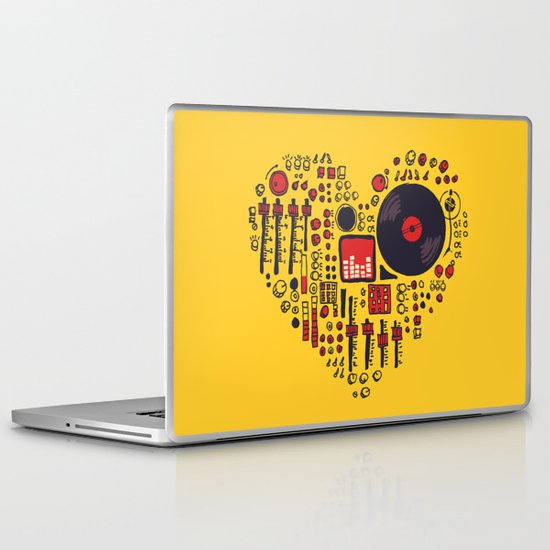 Music in every heartbeat Laptop & iPad Skin